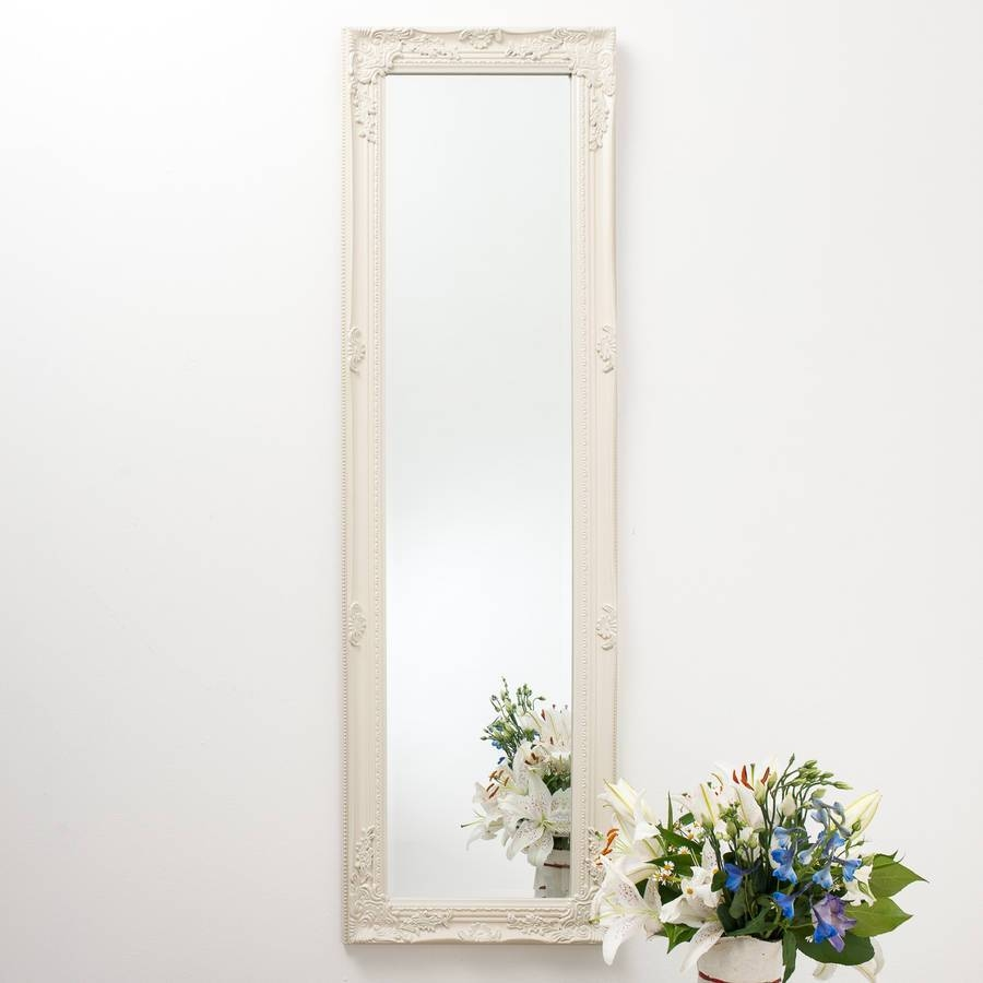 Ornate Vintage Silver Pewter Mirror Full Lengthhand Crafted with Ornate Full Length Wall Mirrors (Image 22 of 25)