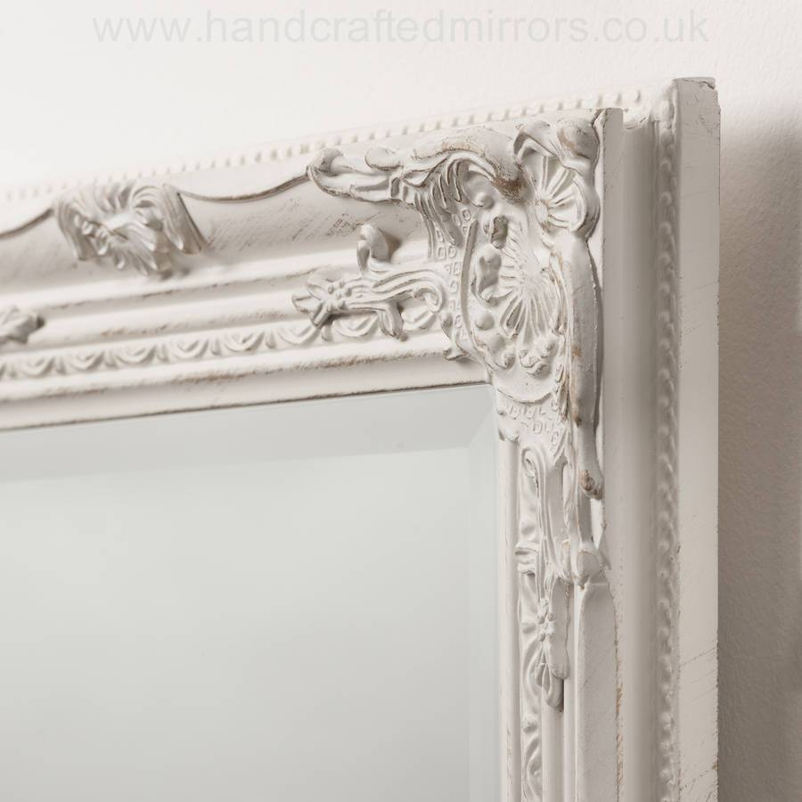 Ornate Vintage Silver Pewter Mirror Full Lengthhand Crafted within Distressed Silver Mirrors (Image 19 of 25)