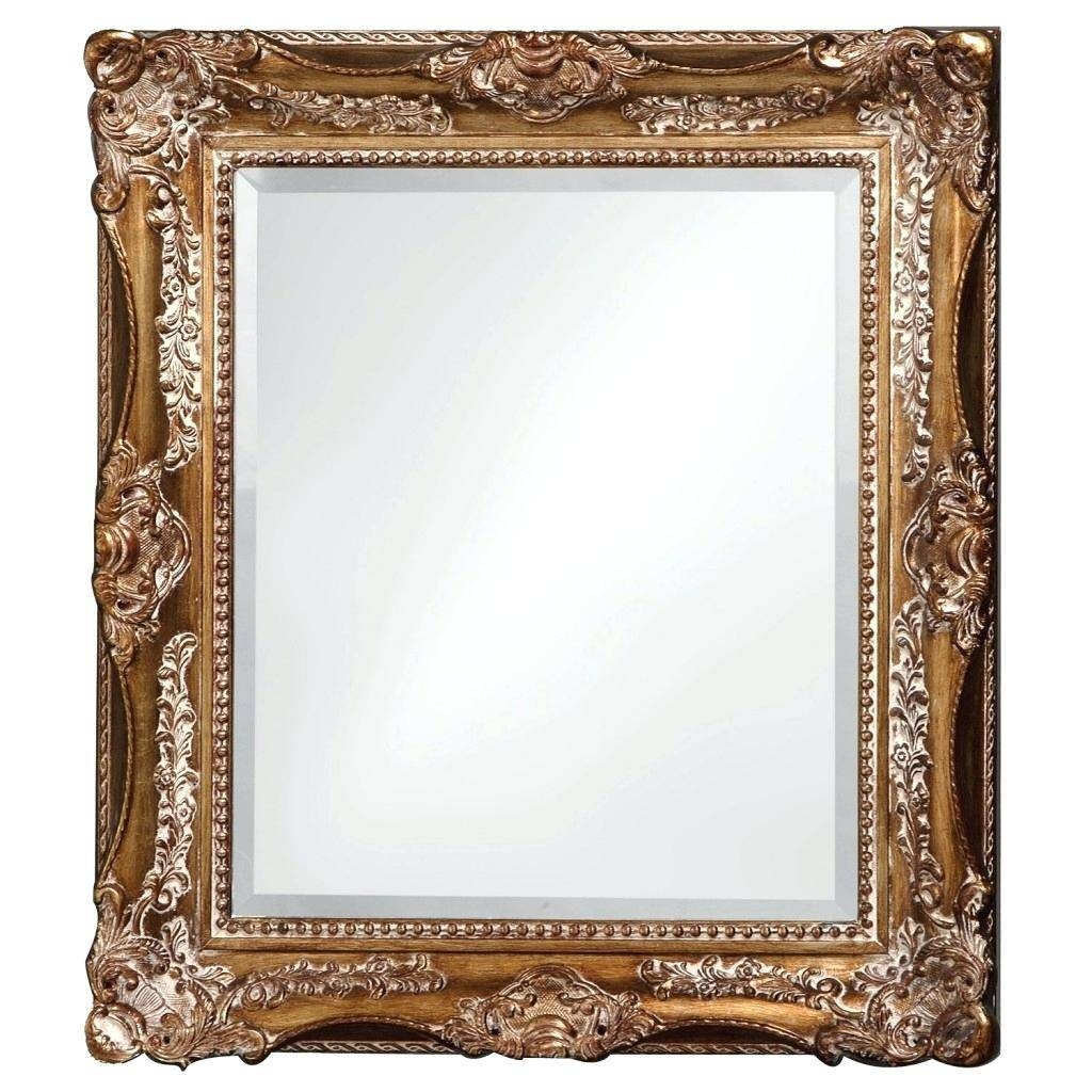Ornate White Double Framed Mirrorsilver Wall Mirror Frame Gold within Large Ornate White Mirrors (Image 22 of 25)
