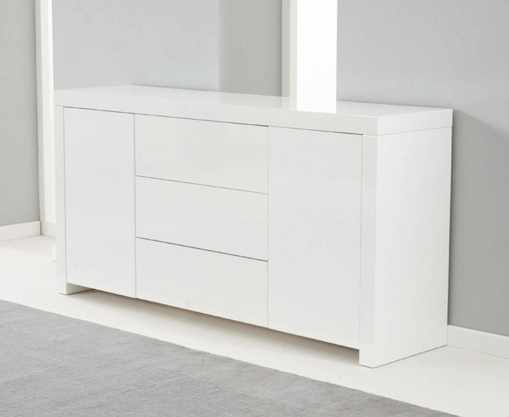 Ornella White High Gloss Sideboard in White High Gloss Sideboards (Image 21 of 30)