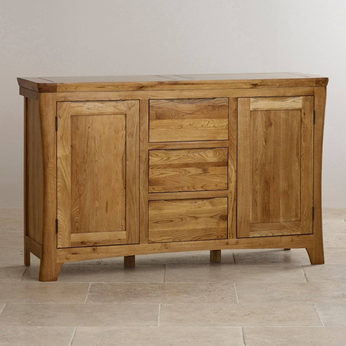 Orrick Large Sideboard | Solid Oak | Oak Furniture Land for Large Oak Wardrobes (Image 8 of 15)