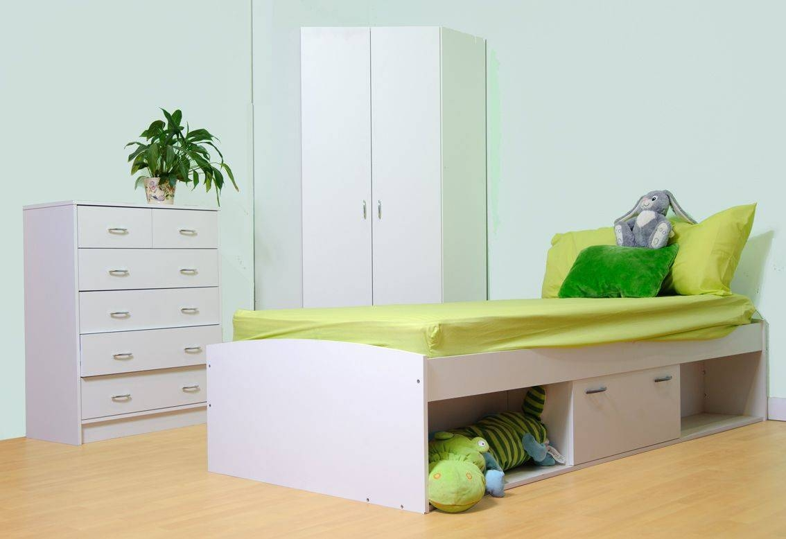 Oslo Bed Corner Wardrobe And Chest Of Drawer Childrens Bedroom Set With Regard To Wardrobes And Chest Of Drawers Combined (View 5 of 15)