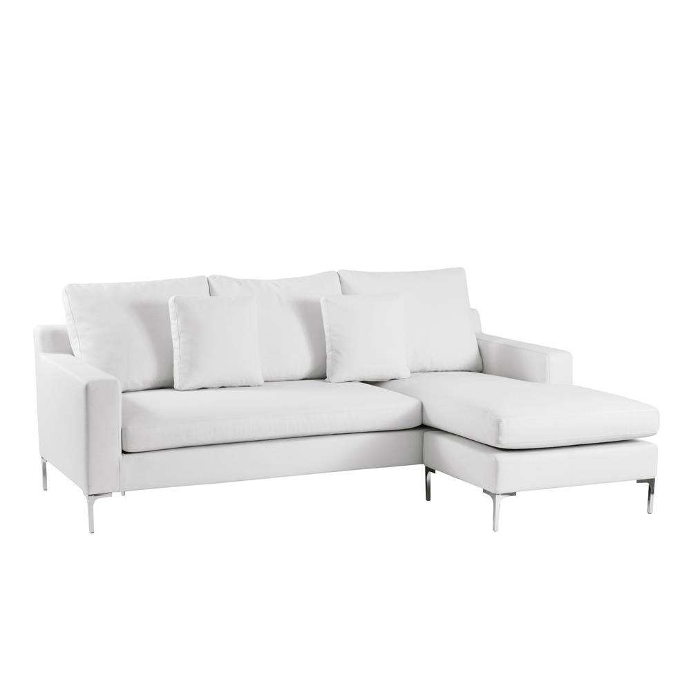 Oslo Reversible Corner Sofa White - Dwell intended for White Leather Corner Sofa (Image 20 of 30)
