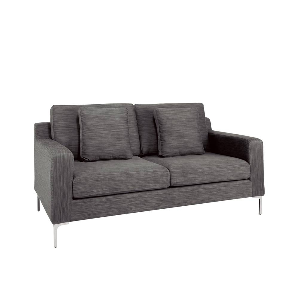 Oslo Two Seater Sofa Grey Fabric - Dwell in Two Seater Sofas (Image 18 of 30)