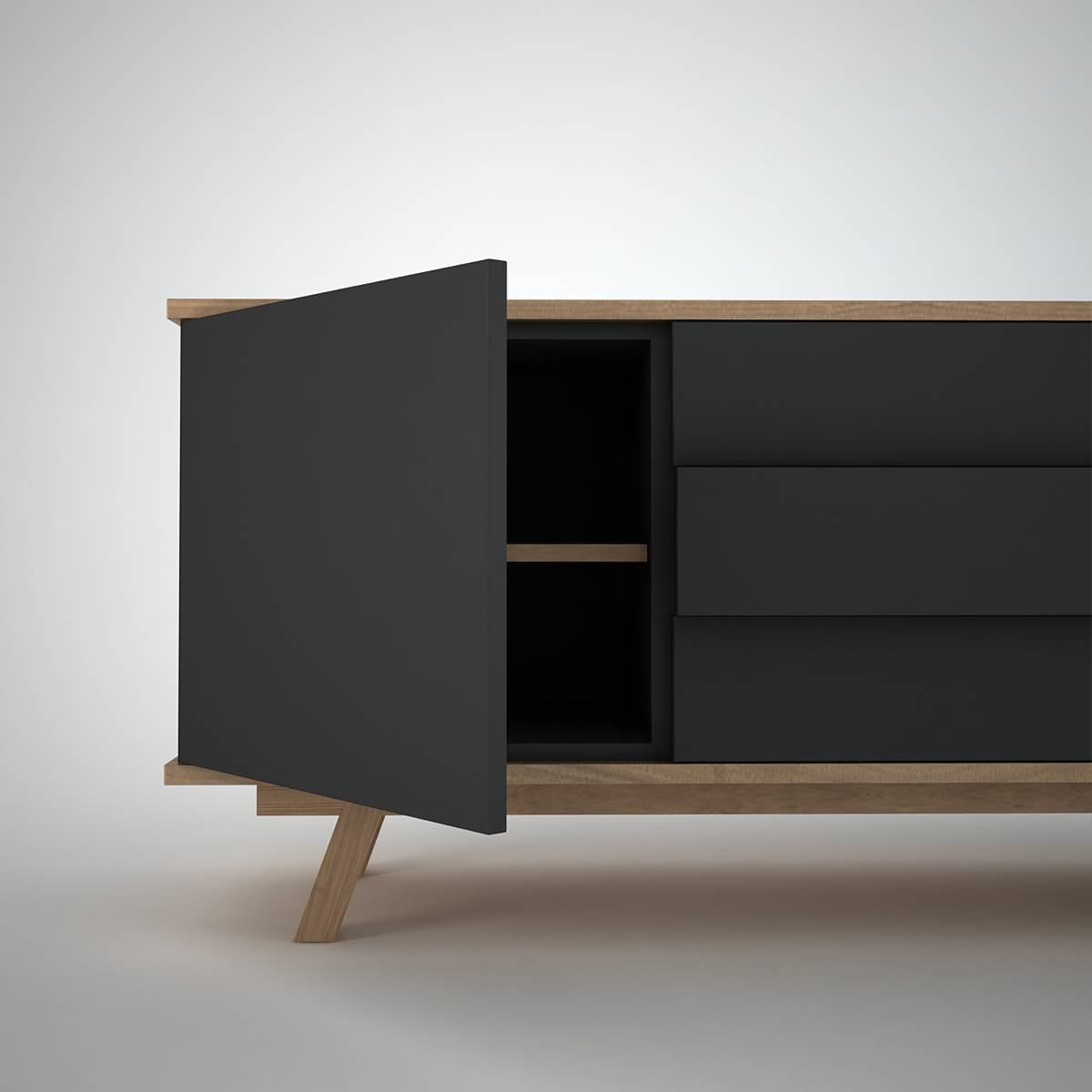 Ottawa Sideboard (2+3) Anthracite - Join Furniture inside Contemporary Sideboards (Image 22 of 30)
