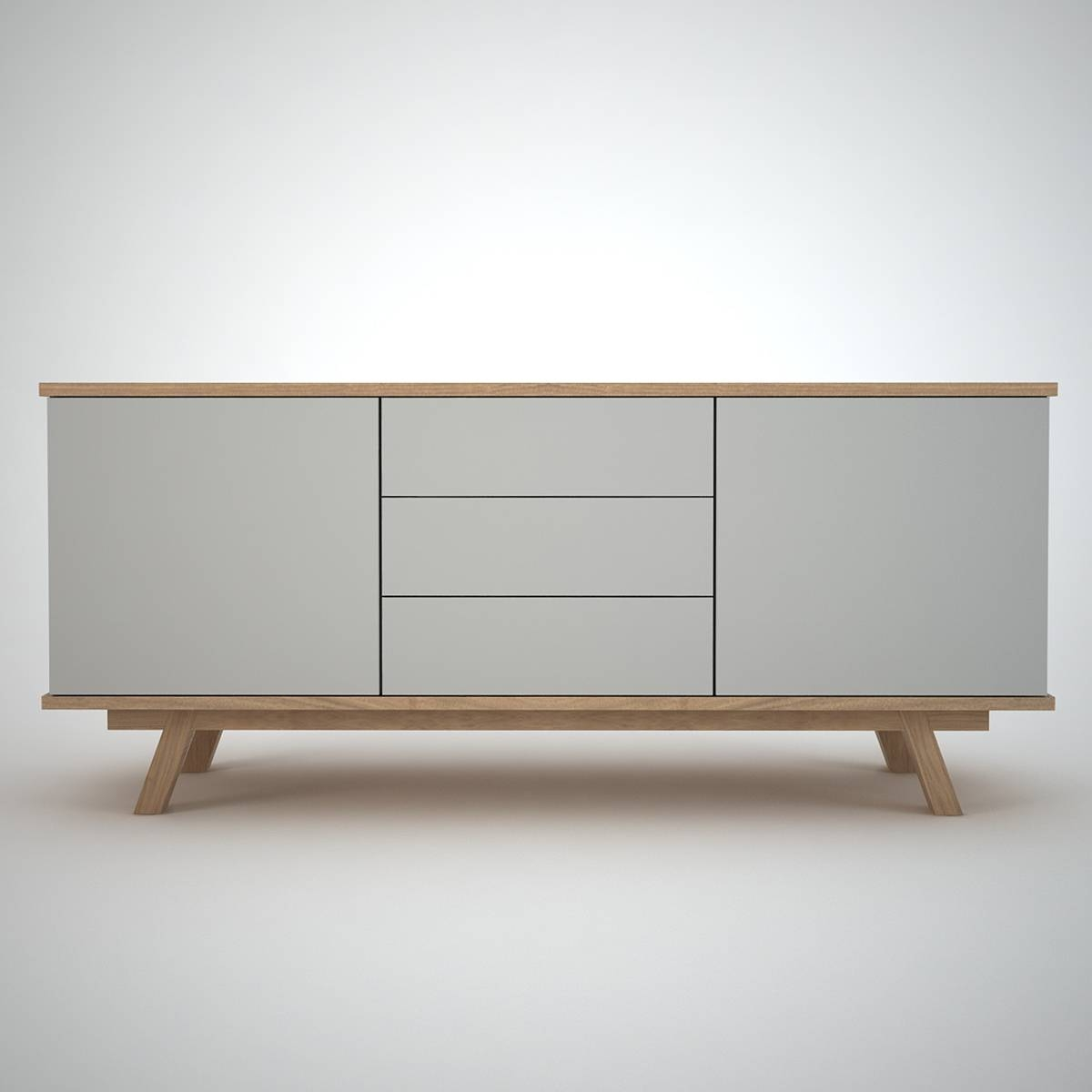 Ottawa Sideboard (2+3) Clay - Join Furniture inside Contemporary Oak Sideboards (Image 18 of 30)