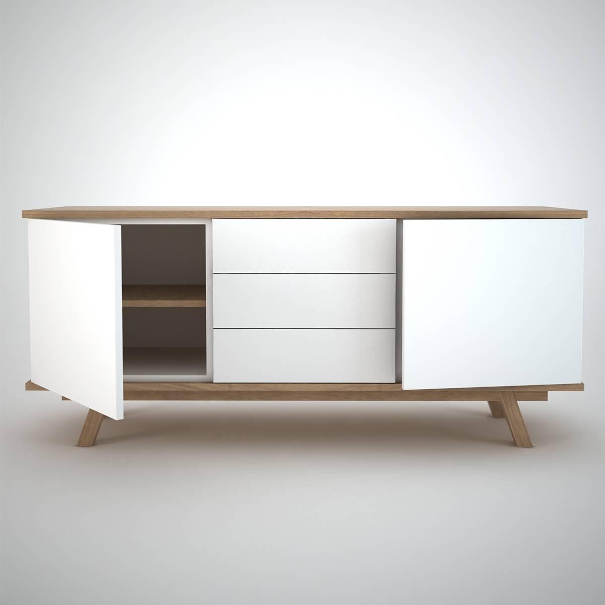 Ottawa Sideboard (2+3) White - Join Furniture pertaining to White Sideboard Furniture (Image 16 of 30)