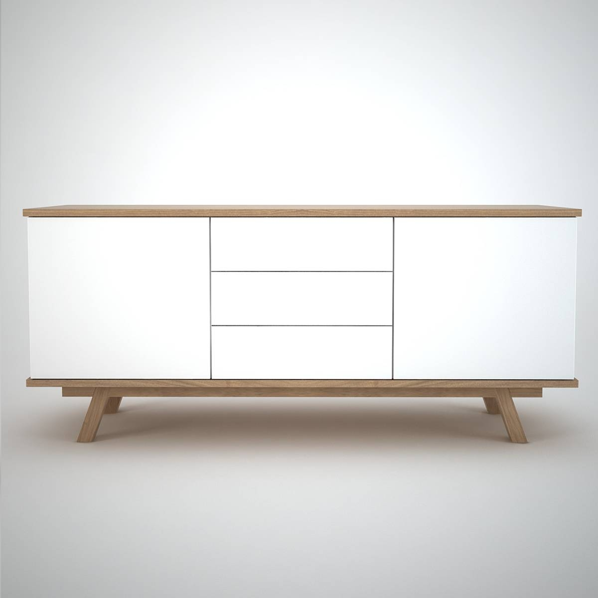 Ottawa Sideboard (2+3) White - Join Furniture with White Wooden Sideboards (Image 12 of 30)