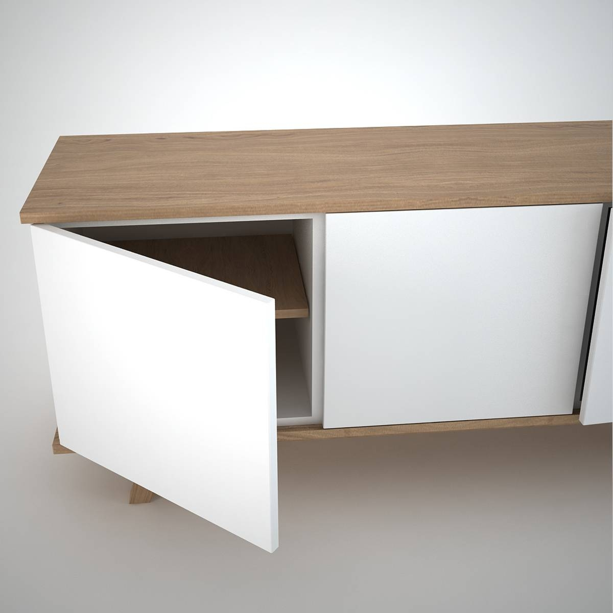 Ottawa Sideboard (3) White - Join Furniture in White Modern Sideboards (Image 19 of 30)