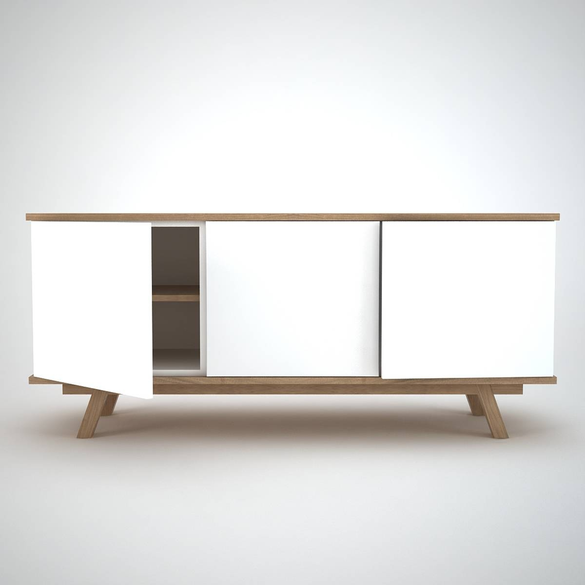 Ottawa Sideboard (3) White - Join Furniture inside White Contemporary Sideboards (Image 22 of 30)