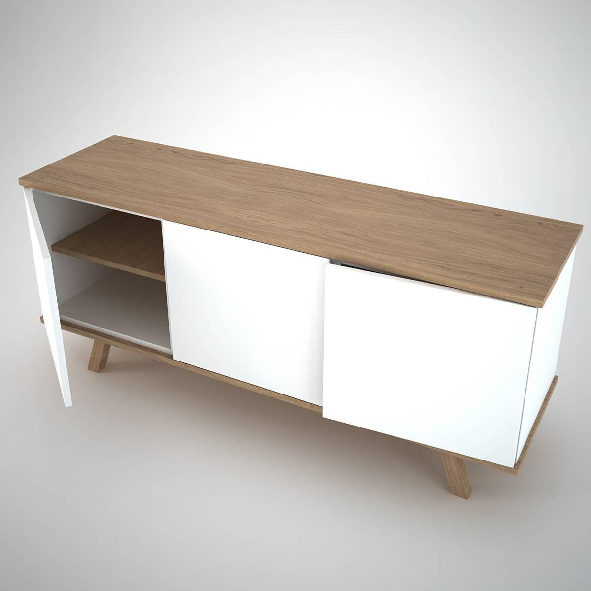 Ottawa Sideboard (3) White - Join Furniture within Contemporary Oak Sideboards (Image 24 of 30)