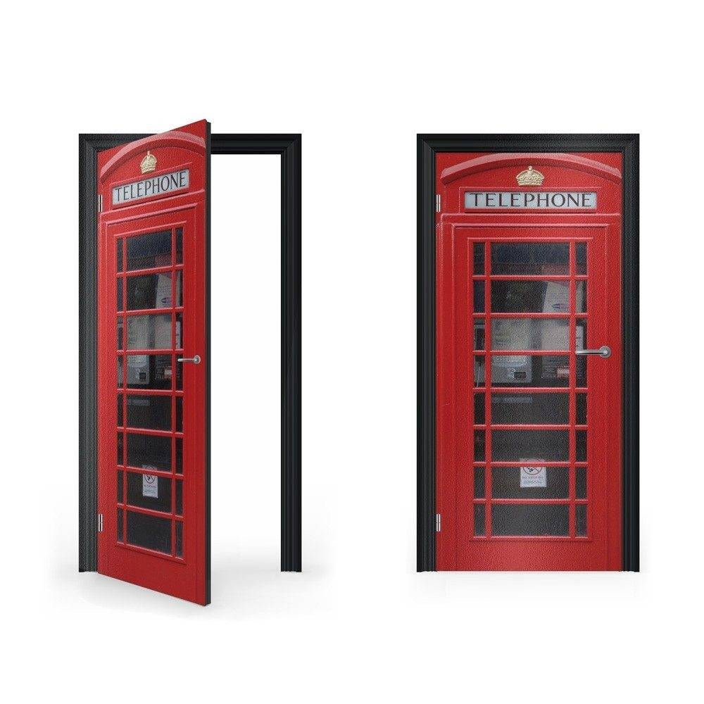 Our Vinyl Door Wraps, Stickers & Decals | Vinyl Revolution throughout Telephone Box Wardrobes (Image 10 of 15)