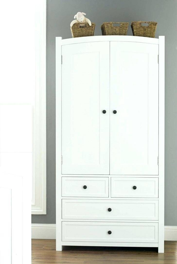 Outdoor Storage Bins Brilliant Bedroom Wardrobe Cabinet With Pull intended for White Wooden Wardrobes (Image 7 of 15)