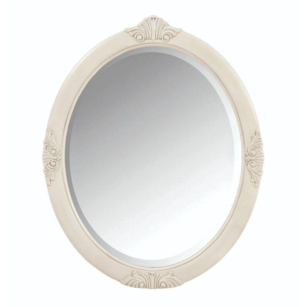 Oval - Bathroom Mirrors - Bath - The Home Depot regarding White Oval Mirrors (Image 9 of 25)