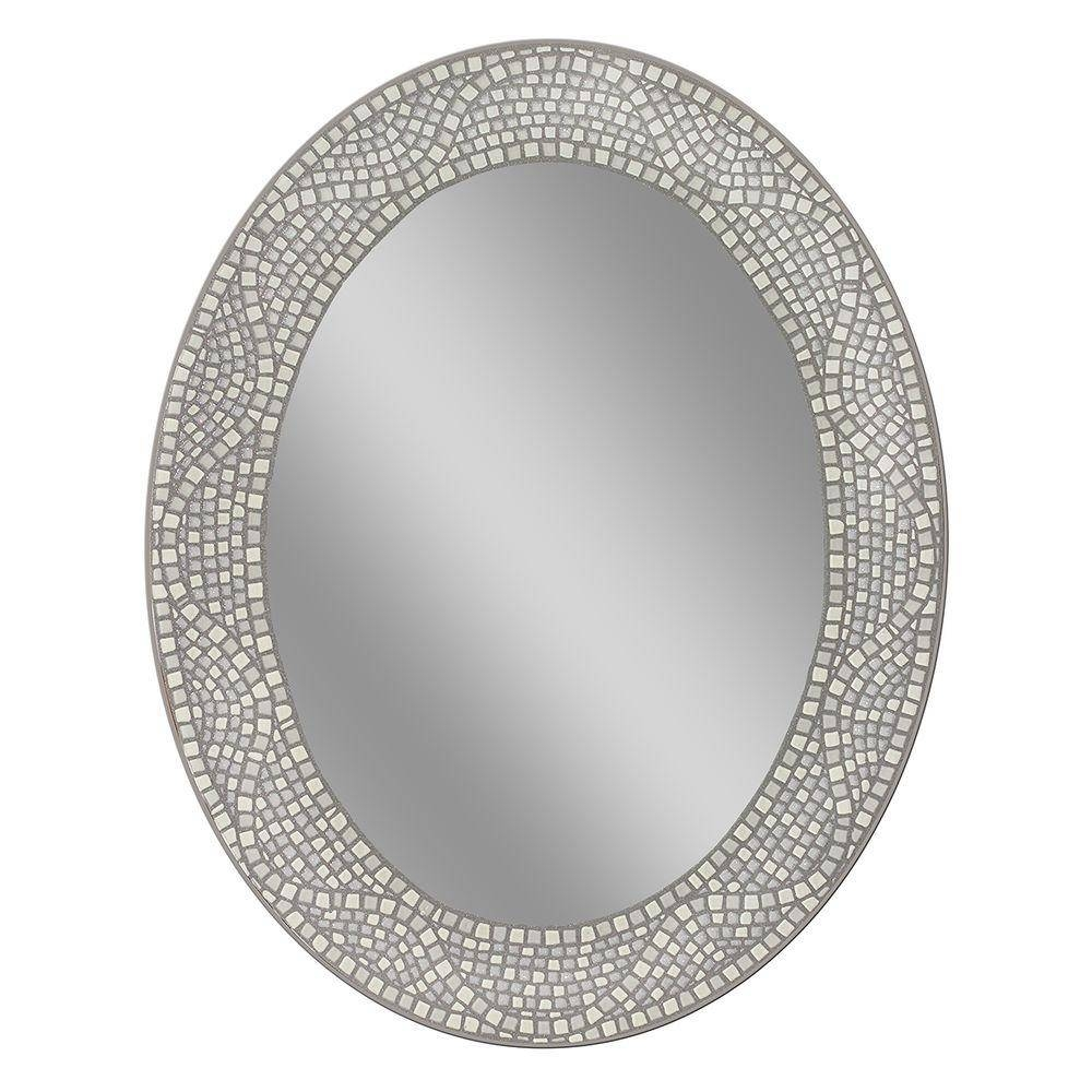 Oval - Bathroom Mirrors - Bath - The Home Depot regarding White Oval Mirrors (Image 8 of 25)