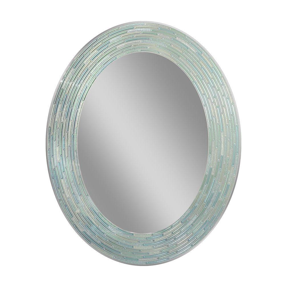 Oval – Bathroom Mirrors – Bath – The Home Depot Throughout Silver Oval Wall Mirrors (View 16 of 25)