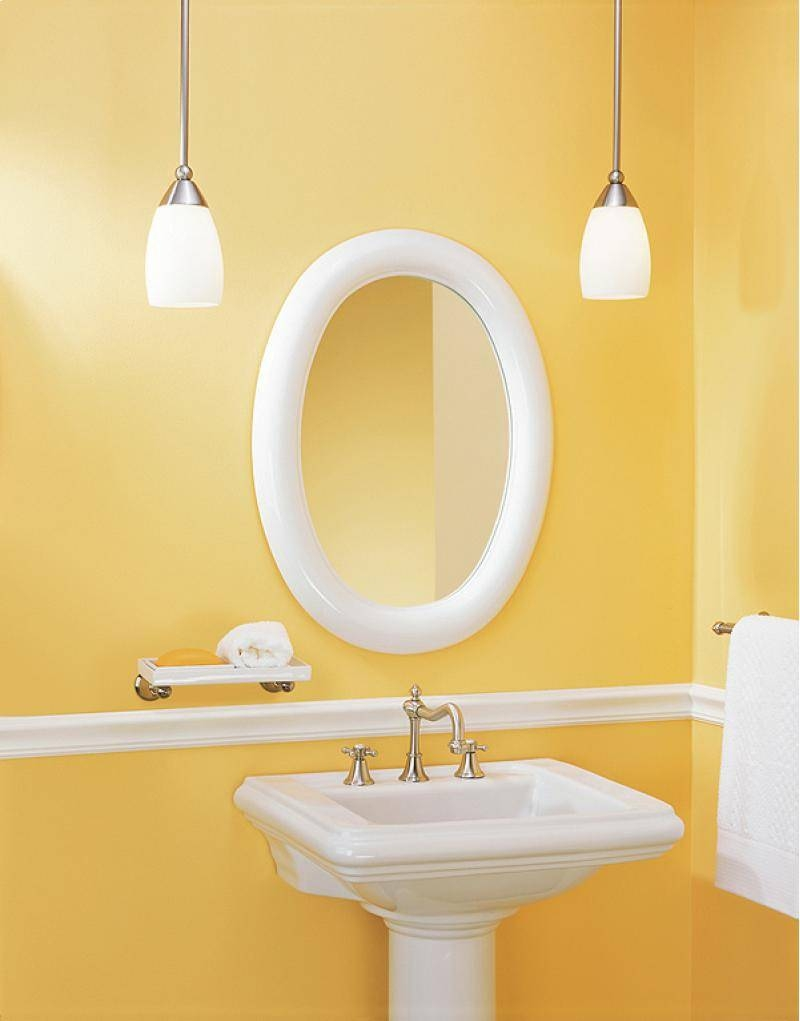 Oval Bathroom Mirrors Yellow pertaining to White Oval Bathroom Mirrors (Image 23 of 25)