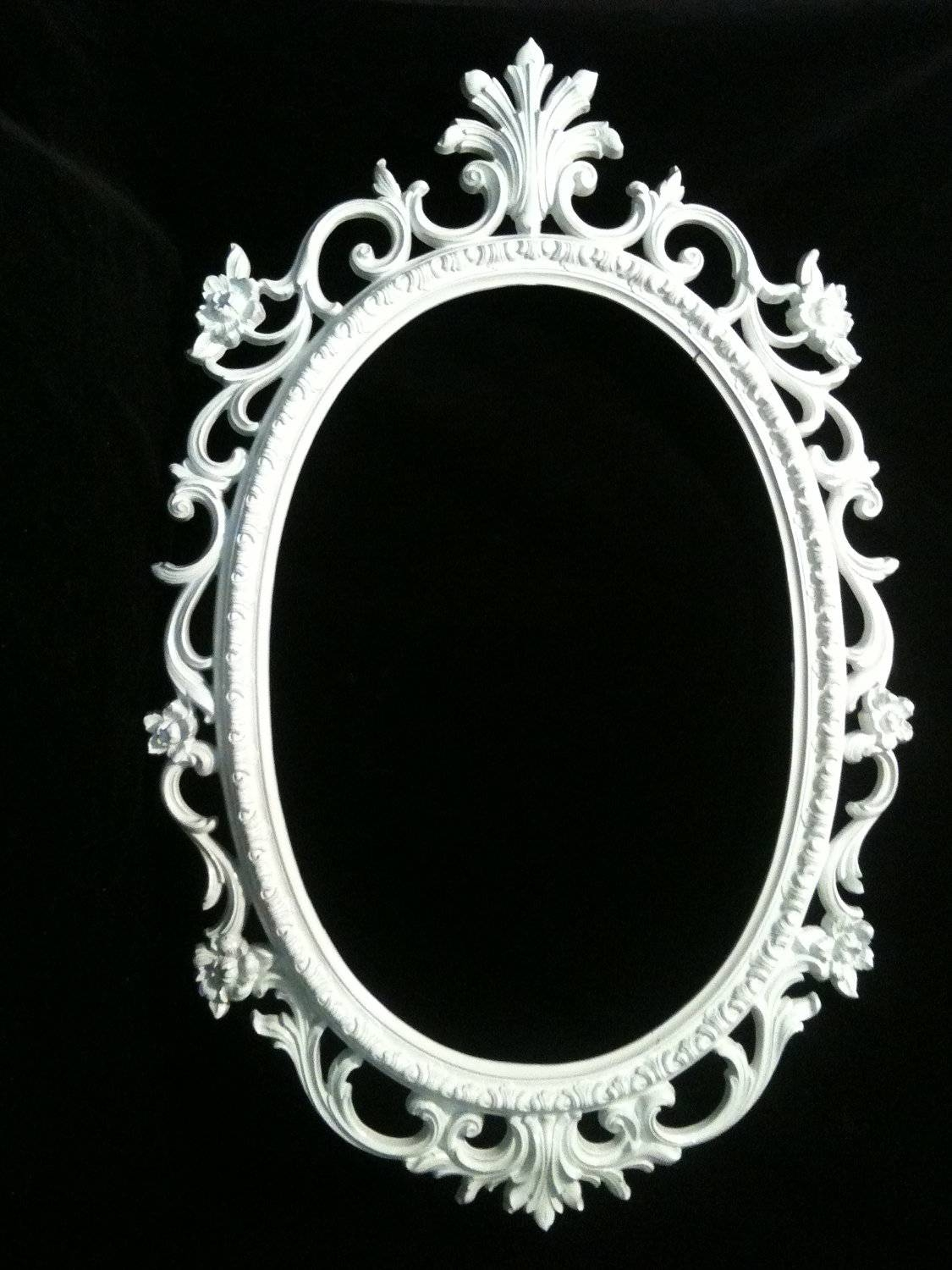 Oval Black Framed Mirror – Harpsounds.co regarding Ornate Oval Mirrors (Image 17 of 25)