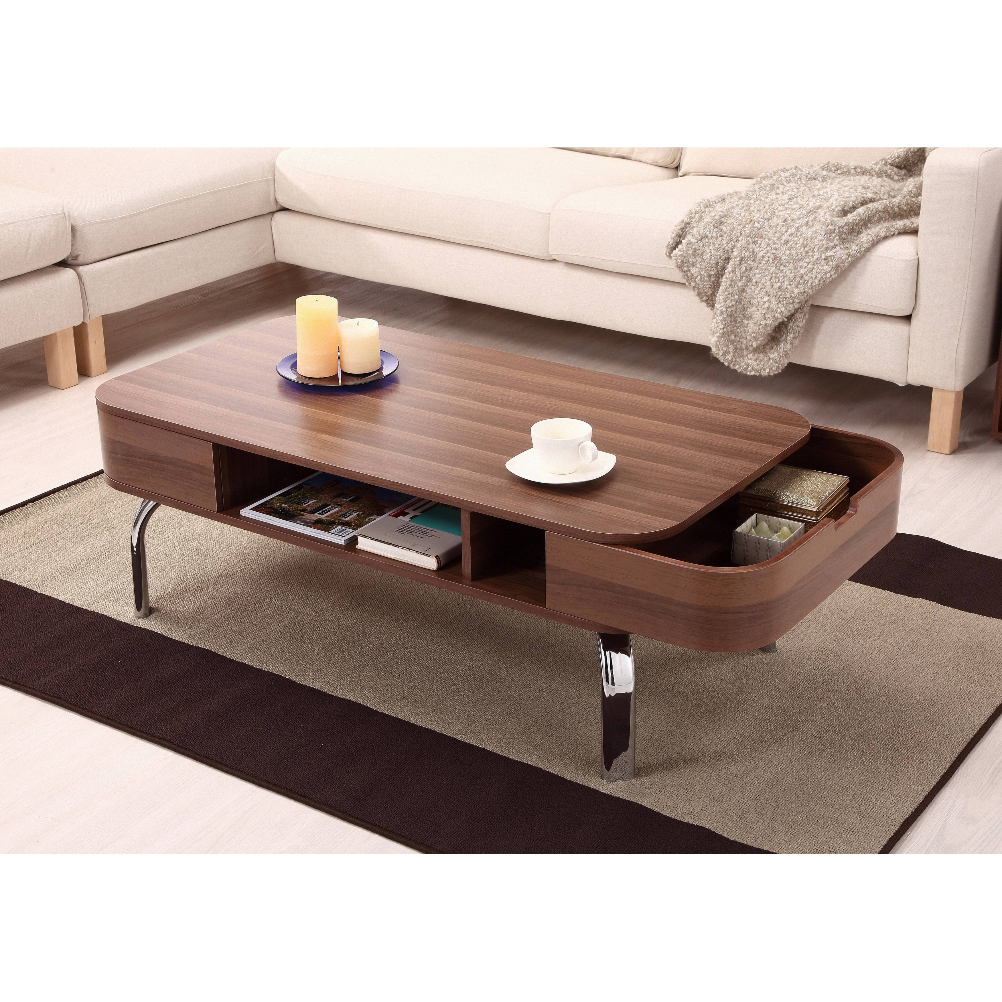 Oval Coffee Table With Storage ~ Bacill inside Coffee Tables With Rounded Corners (Image 20 of 30)