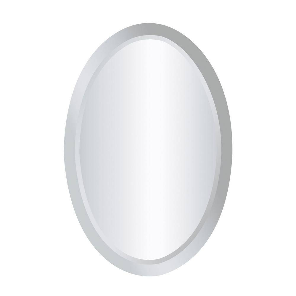 Oval - Contemporary - Mirrors - Wall Decor - The Home Depot inside White Oval Mirrors (Image 11 of 25)