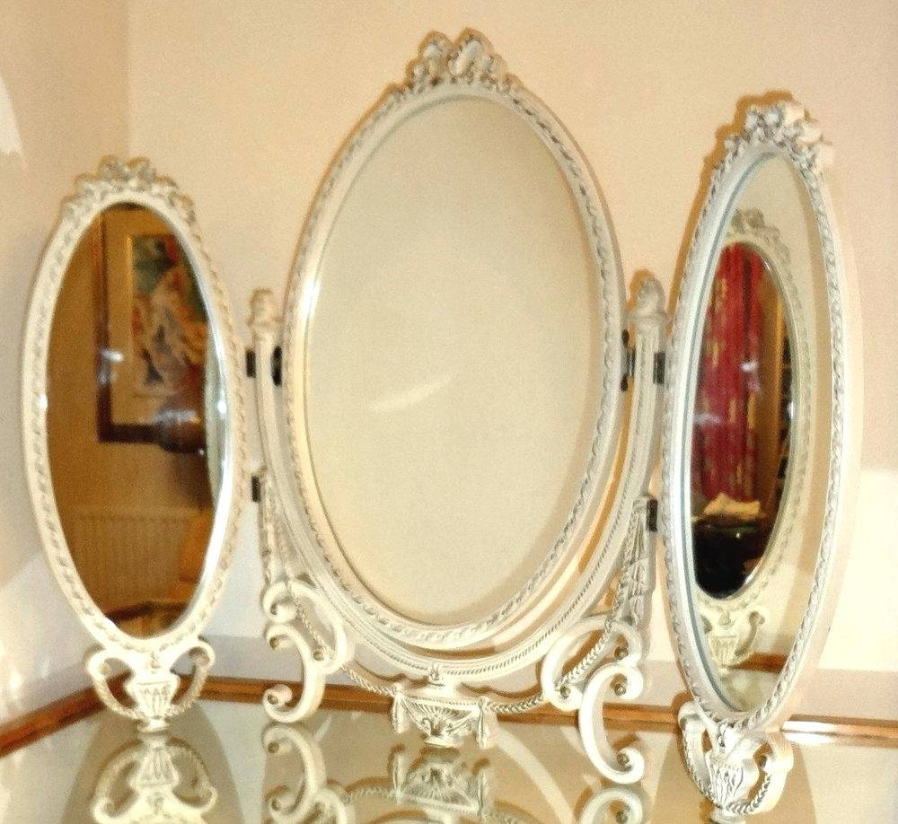 Oval Dressing Table Mirror – Shopwiz pertaining to Triple Oval Mirrors (Image 17 of 25)