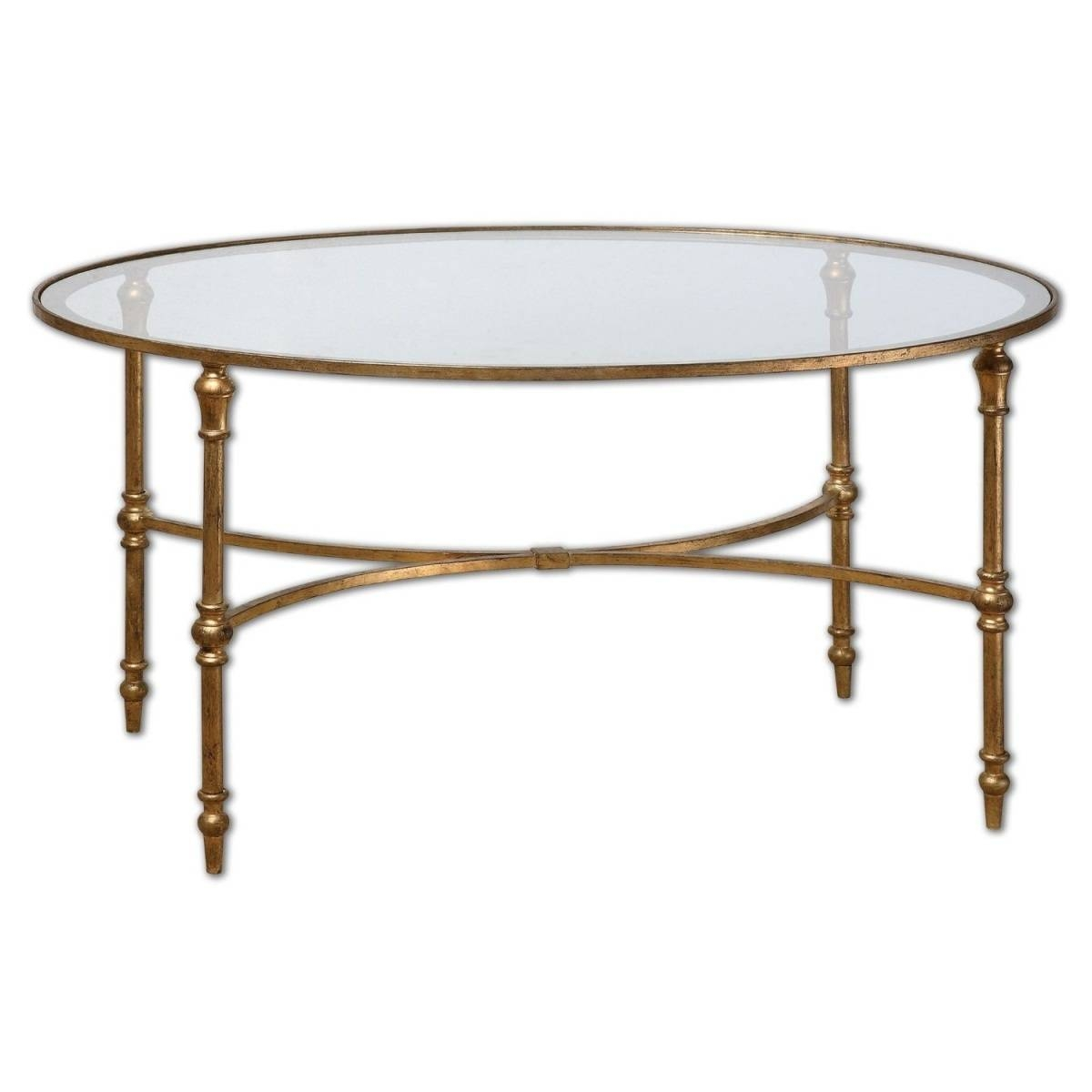 Oval Glass And Metal Coffee Tables | Coffee Tables Decoration With Oval Glass Coffee Tables (View 4 of 30)