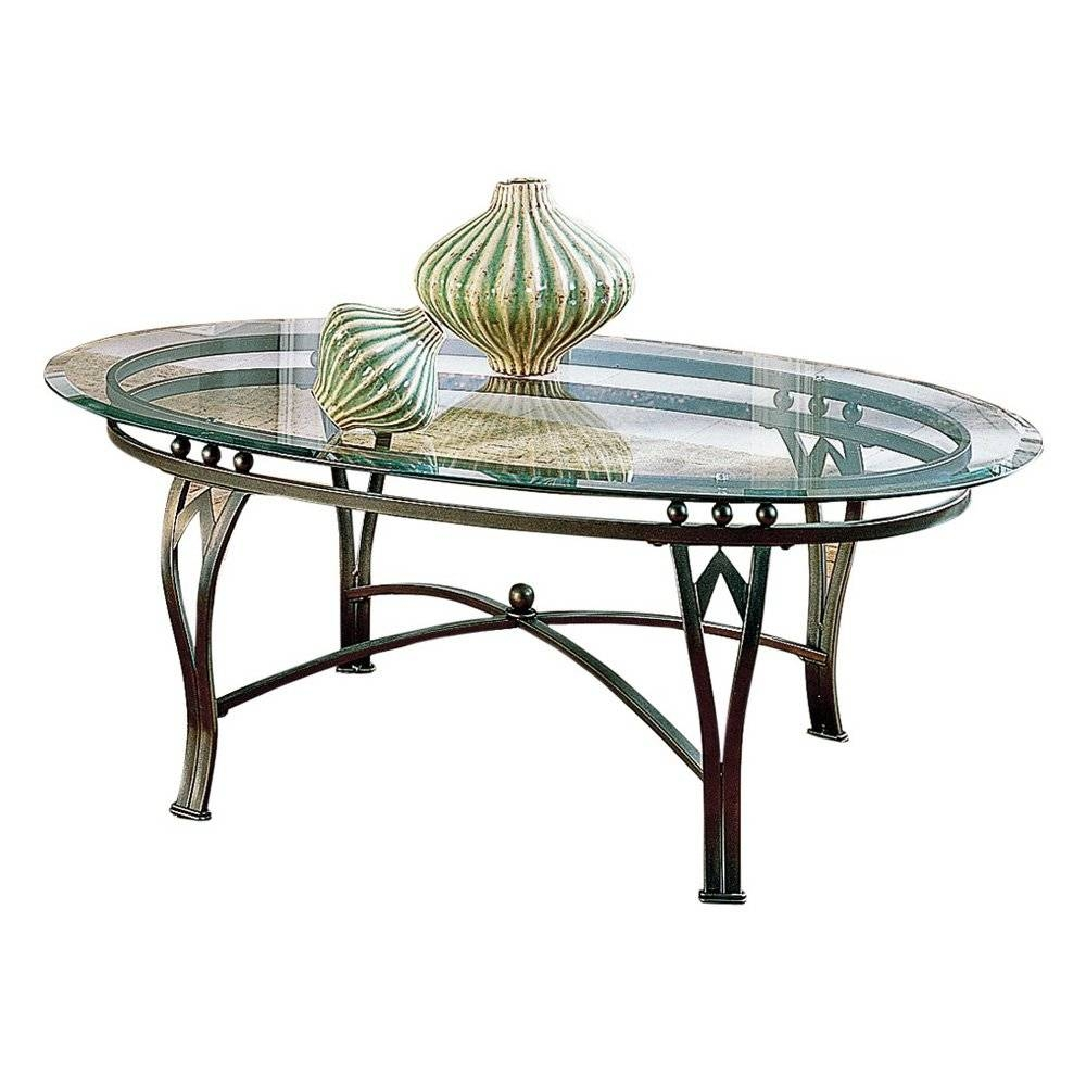 Oval Glass And Wrought Iron Coffee Table | Coffee Tables Decoration with Oval Shaped Glass Coffee Tables (Image 23 of 30)