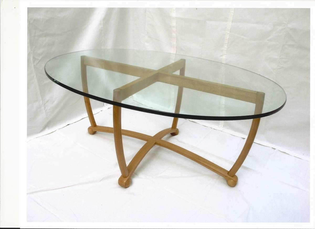 Oval Glass Top Coffee Tables Oval Glass Top Coffee Tables, Brown Regarding Oval Glass Coffee Tables (View 7 of 30)