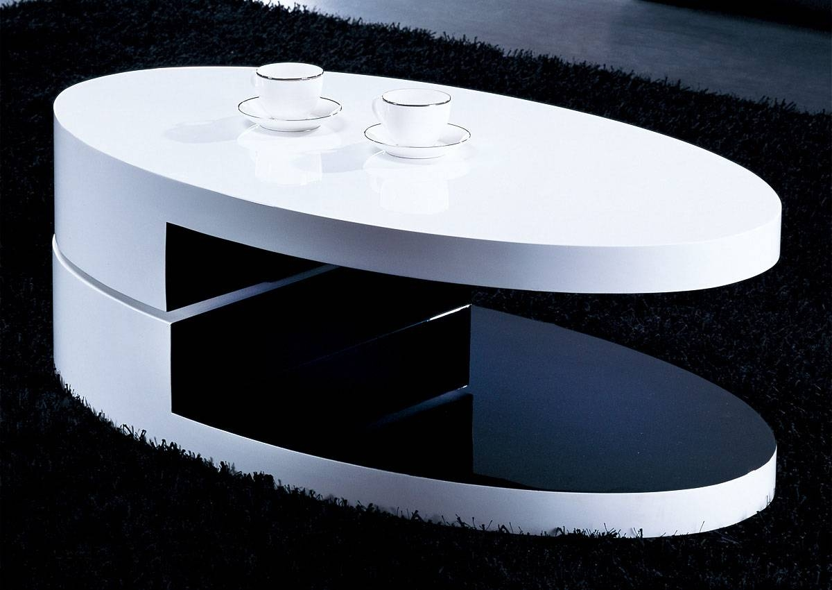 Oval Gloss Coffee Table | Idi Design pertaining to Coffee Tables White High Gloss (Image 22 of 30)