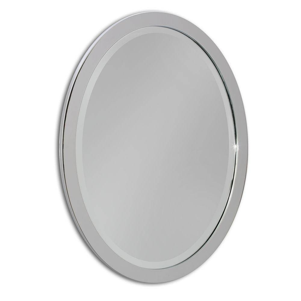 Oval - Metal - Mirrors - Wall Decor - The Home Depot regarding White Metal Mirrors (Image 20 of 25)