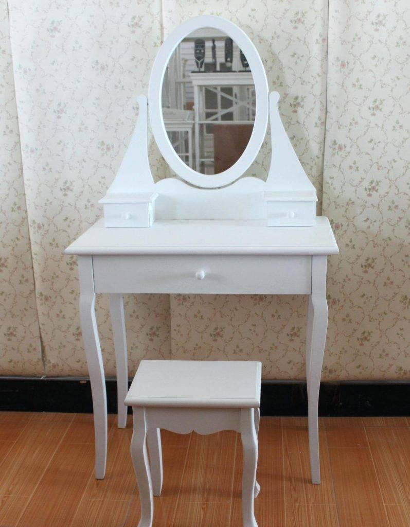 Oval Mirror Previous Next Nextsolid Pine White Free Standing regarding Triple Oval Mirrors (Image 18 of 25)