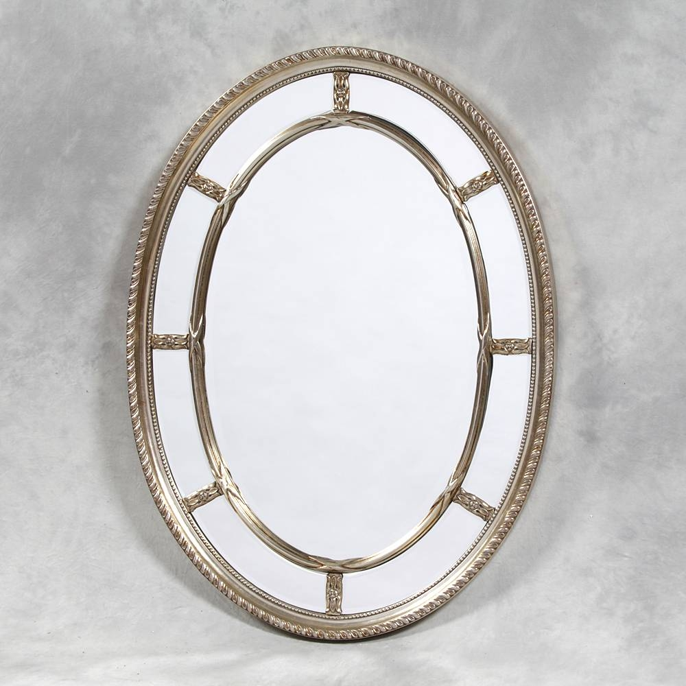 Oval Mirrors Archives - Mirror Base intended for Oval Silver Mirrors (Image 16 of 25)