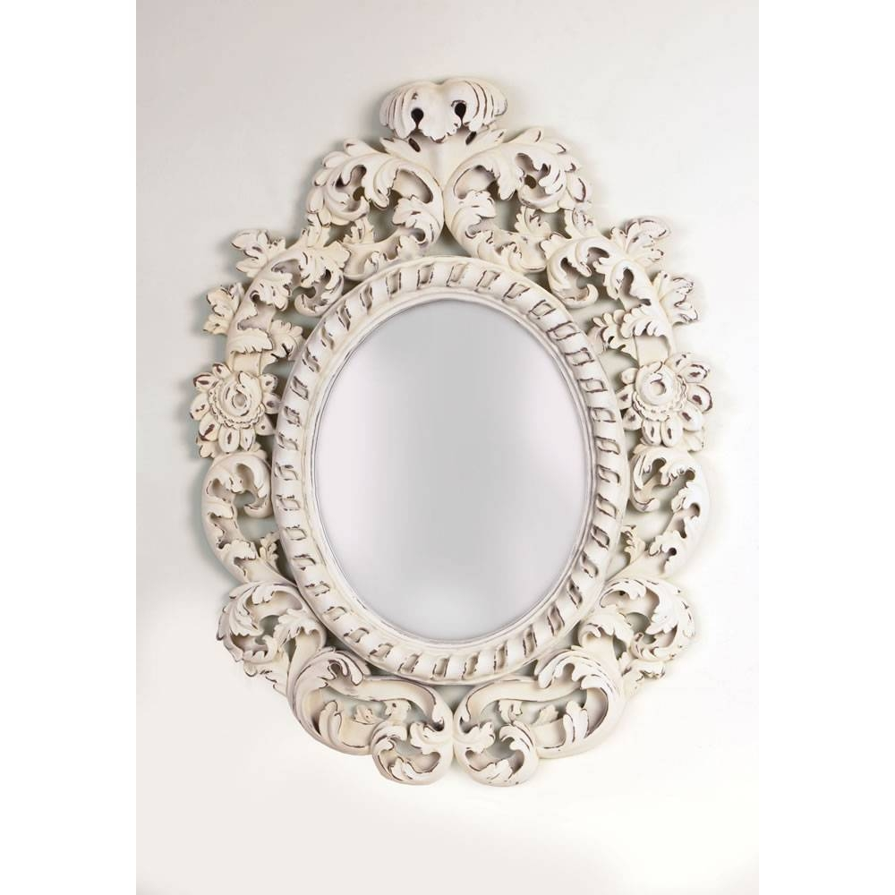 Oval Ornate Mirror - Aquachi within Cream Ornate Mirrors (Image 19 of 25)