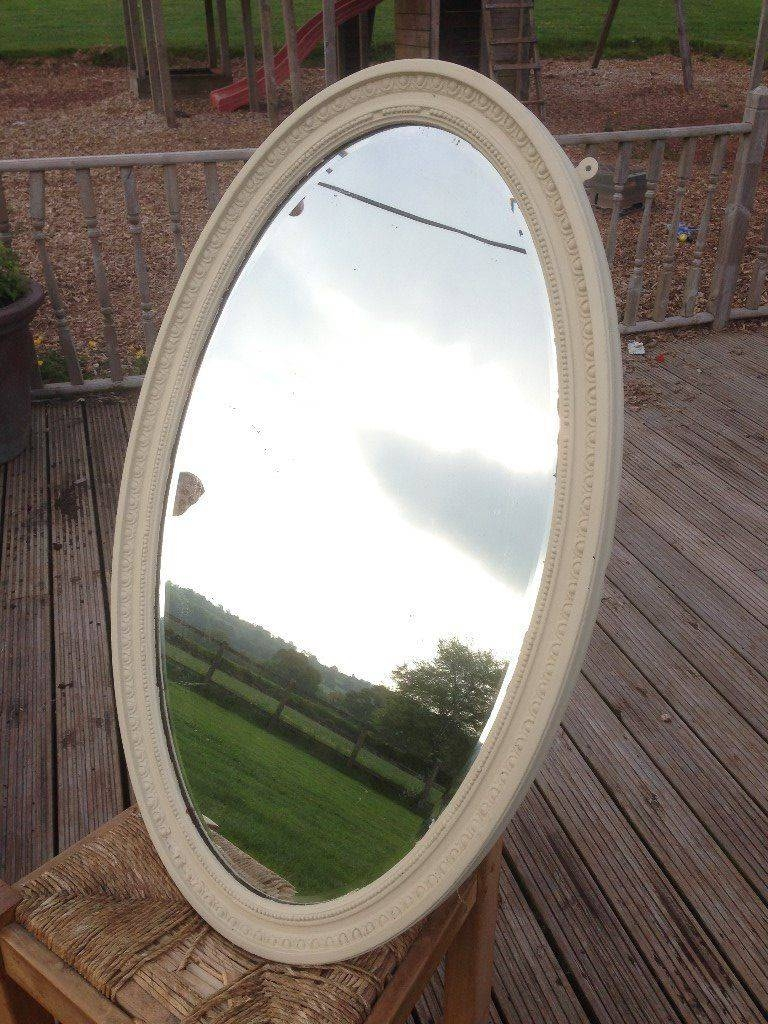 Oval, Shabby Chic Mirror | In Wellington, Somerset | Gumtree Inside Oval Shabby Chic Mirrors (View 22 of 25)