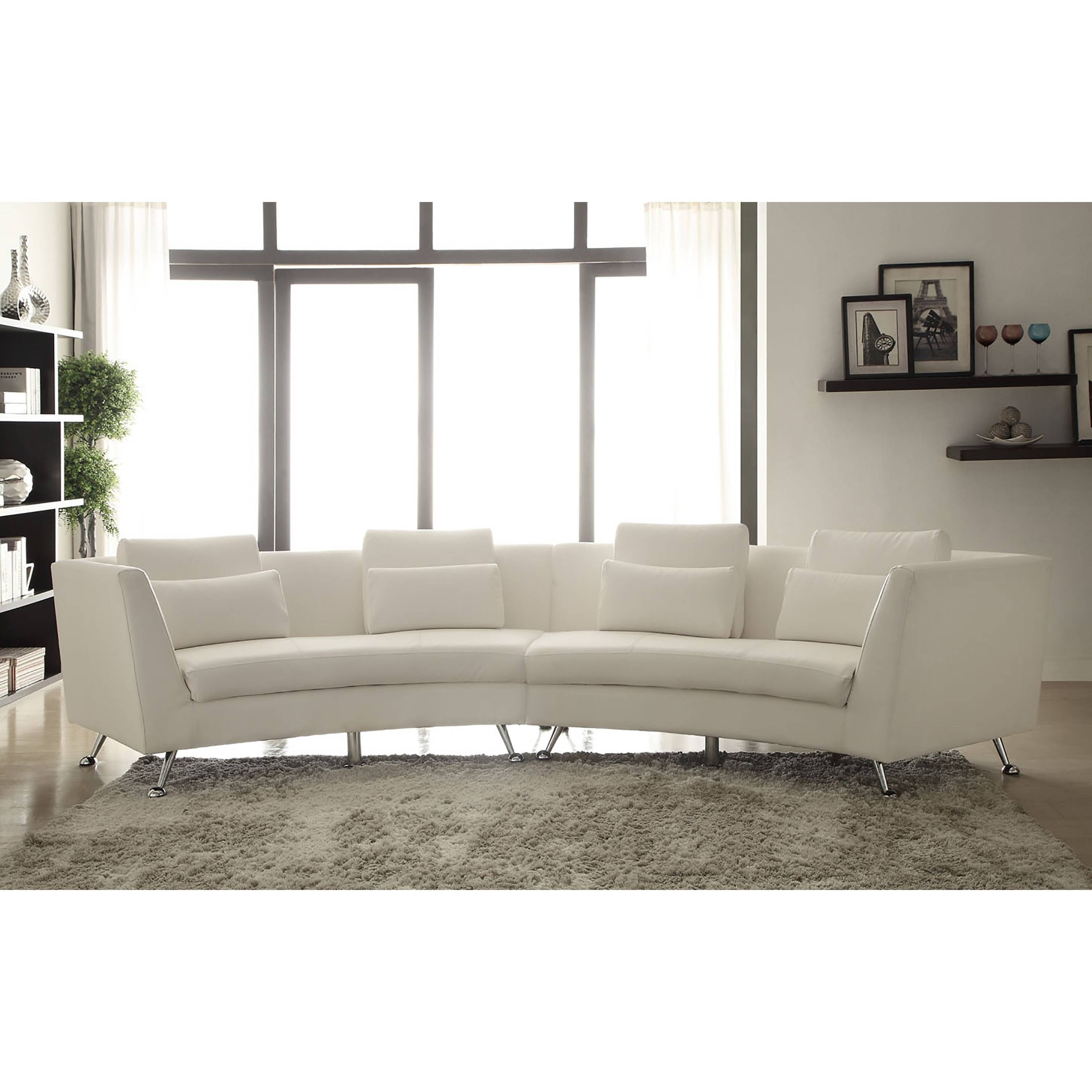 Oval Sofas White Fabric Sofa With Colorful Cushions Plus Round pertaining to Oval Sofas (Image 22 of 30)