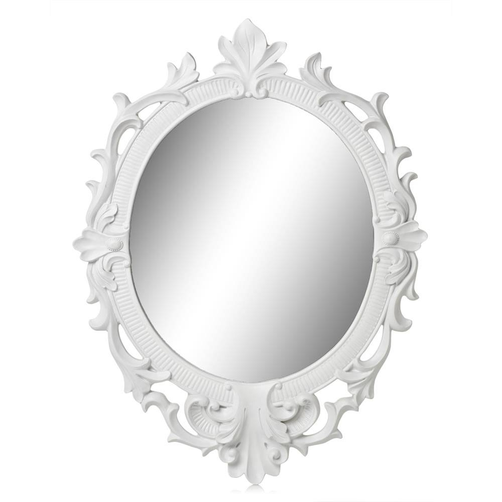 Oval White Framed Mirror 83 Cute Interior And Oval Mirror In White inside White Oval Mirrors (Image 14 of 25)