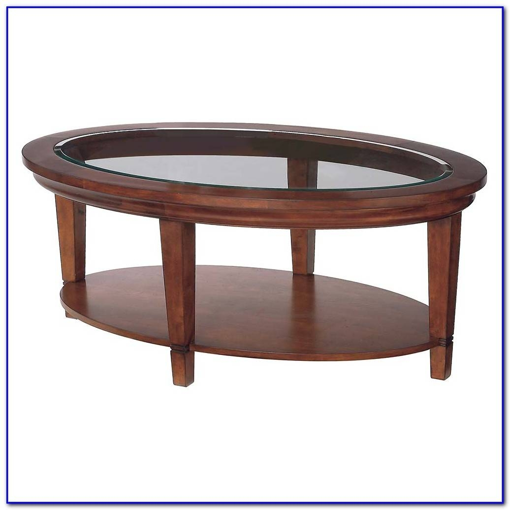 Oval Wood Coffee Table With Glass Top - Coffee Table : Home with regard to Oval Glass and Wood Coffee Tables (Image 27 of 30)