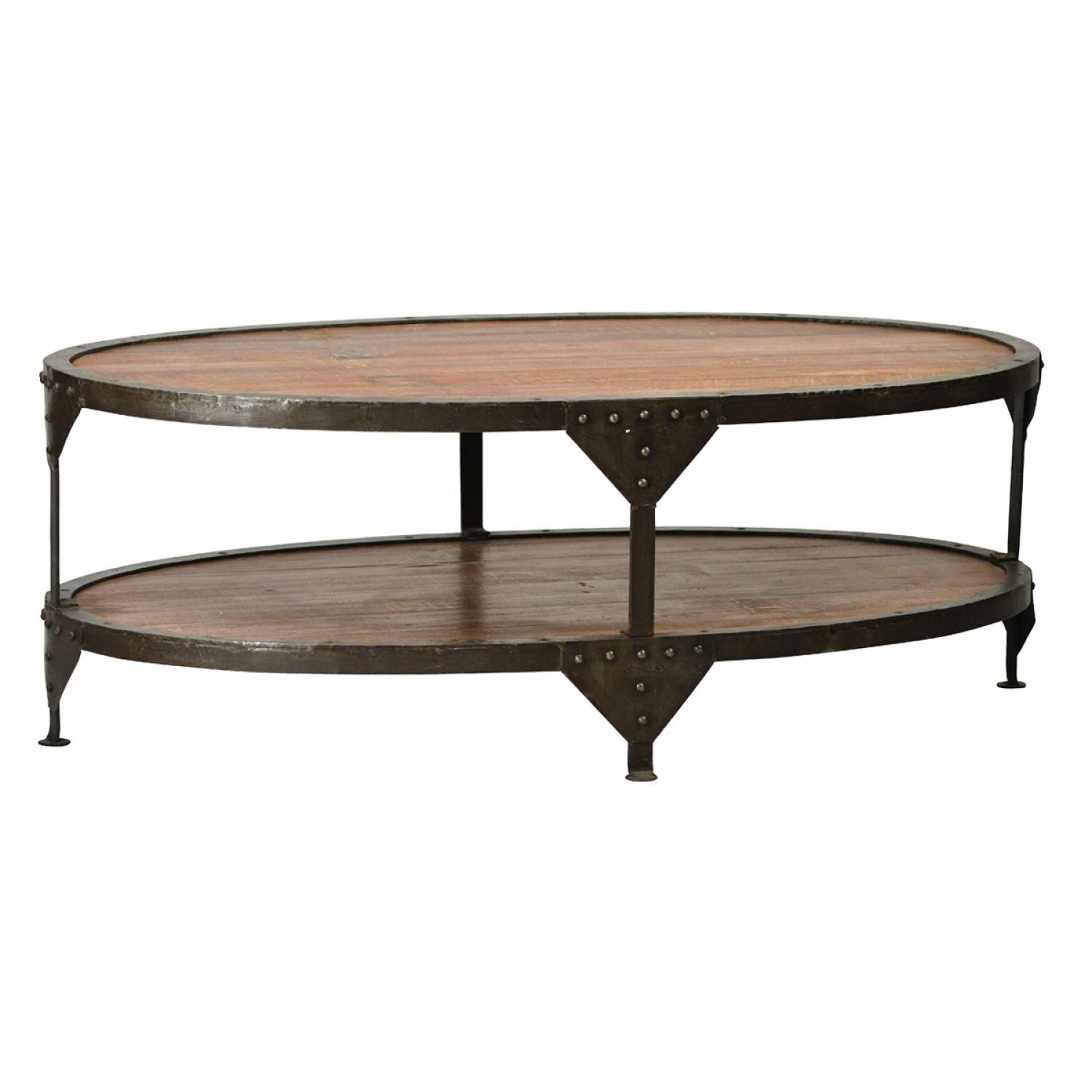 Oval Wood Coffee Table With Metal Legs | Coffee Tables Decoration throughout Oval Wooden Coffee Tables (Image 27 of 30)