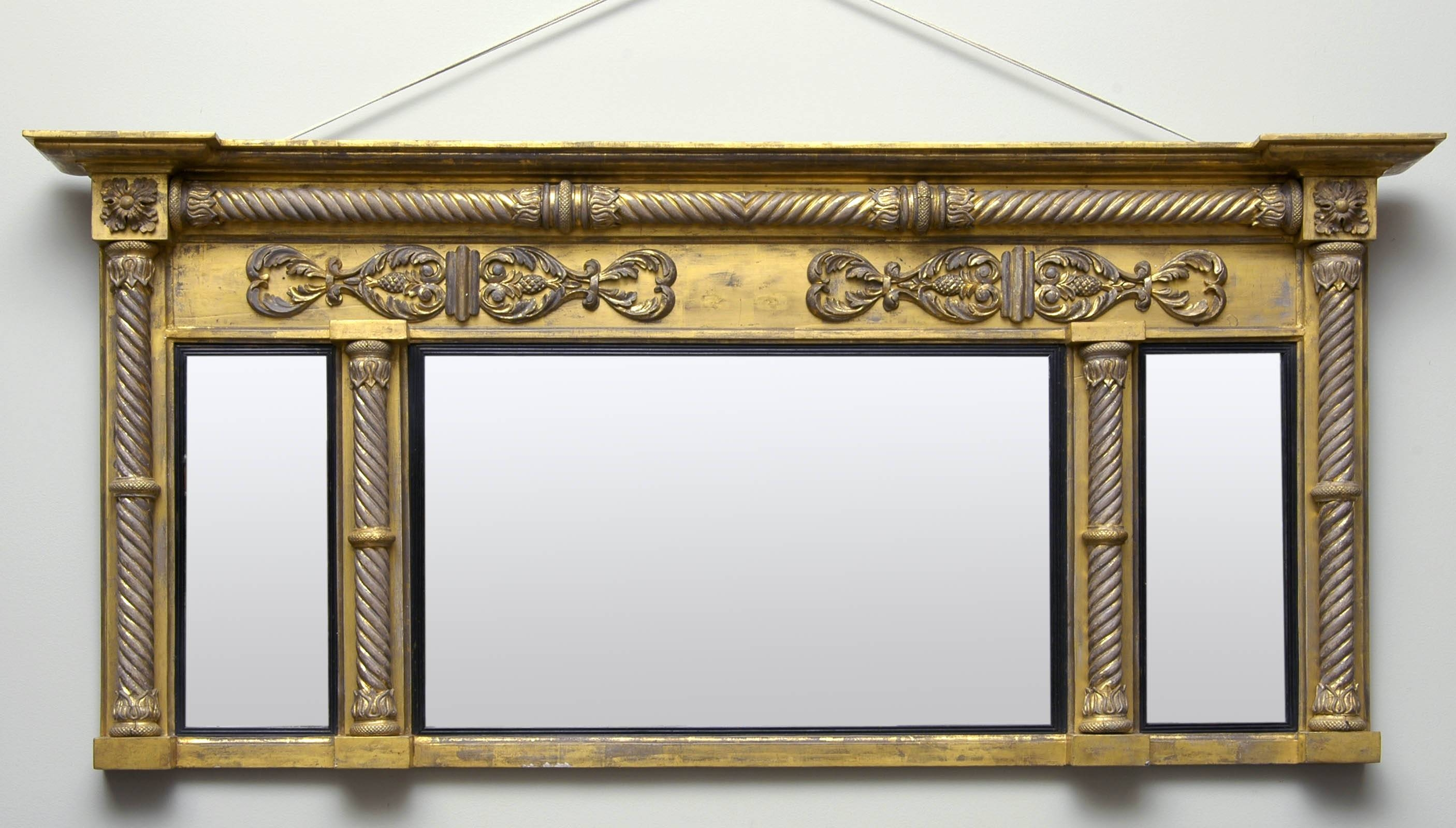 Overmantle Mirror. Ornate Cream Crested Overmantel Mirror 112 X in Vintage Overmantle Mirrors (Image 17 of 25)