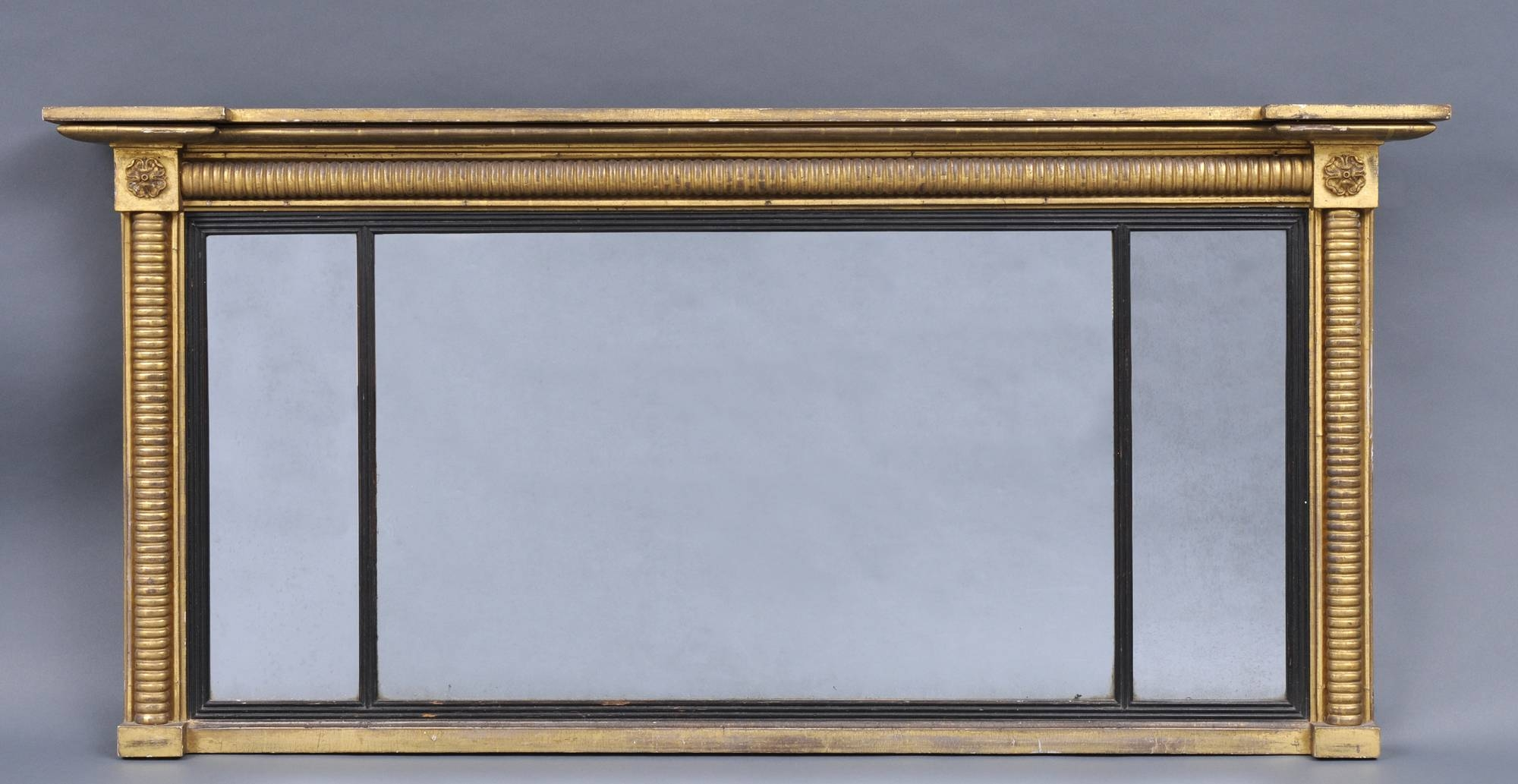 Overmantle Mirror. Ornate Cream Crested Overmantel Mirror 112 X intended for Vintage Overmantle Mirrors (Image 18 of 25)