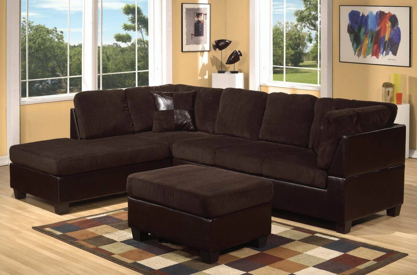 Oversized Living Room Sets Living Room Design And Living Room Ideas with Sectional Sofa With Oversized Ottoman (Image 20 of 30)