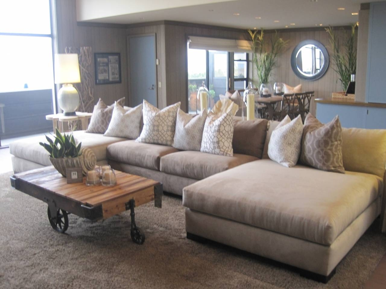 Oversized Sectional Sofa | Roselawnlutheran throughout Sectional Sofa With Large Ottoman (Image 19 of 30)