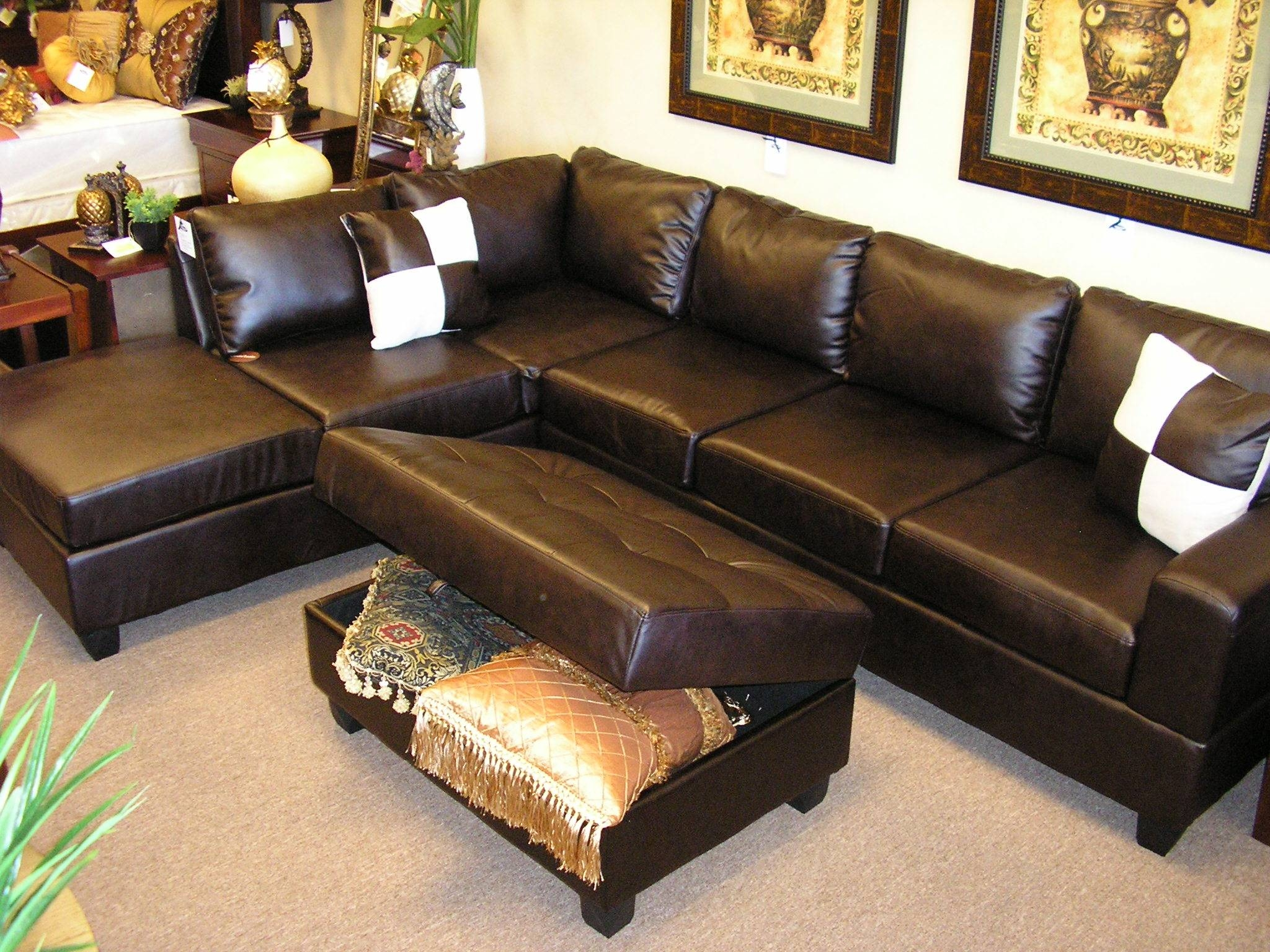 Oversized Sectional Sofas Leather | Tehranmix Decoration within Leather Storage Sofas (Image 16 of 30)