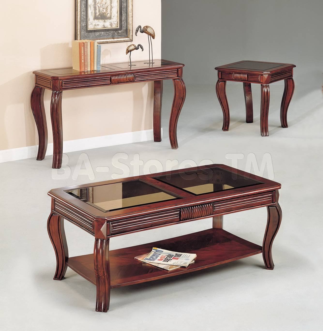 Overture Cherry Sofa Table | Coffee Tables Af-06153/9 with Sofa Table Chairs (Image 22 of 30)