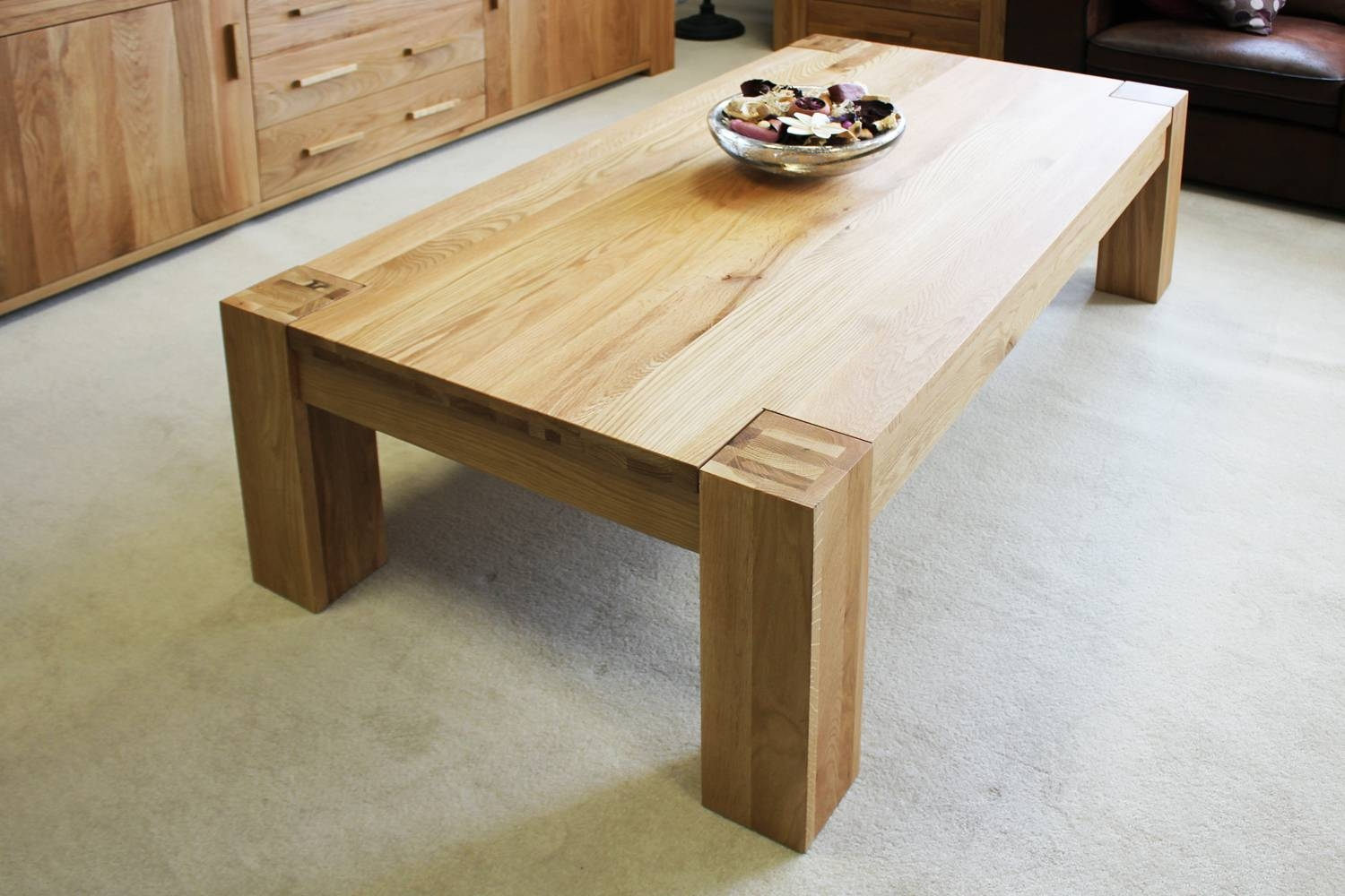 Popular Photo of Chunky Oak Coffee Tables