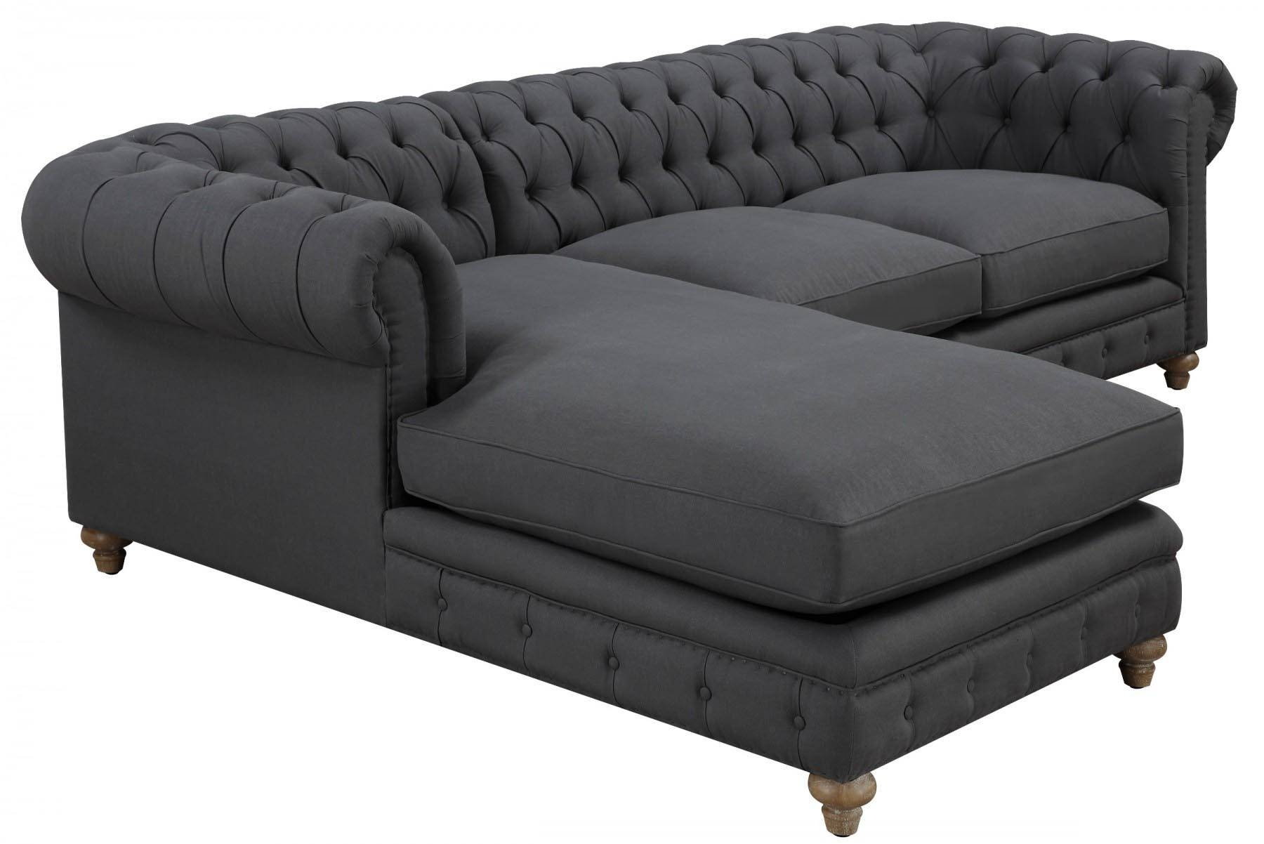 Oxford Grey Linen Sectional Sofa, Tov Furniture - Modern Manhattan intended for Oxford Sofas (Image 18 of 30)