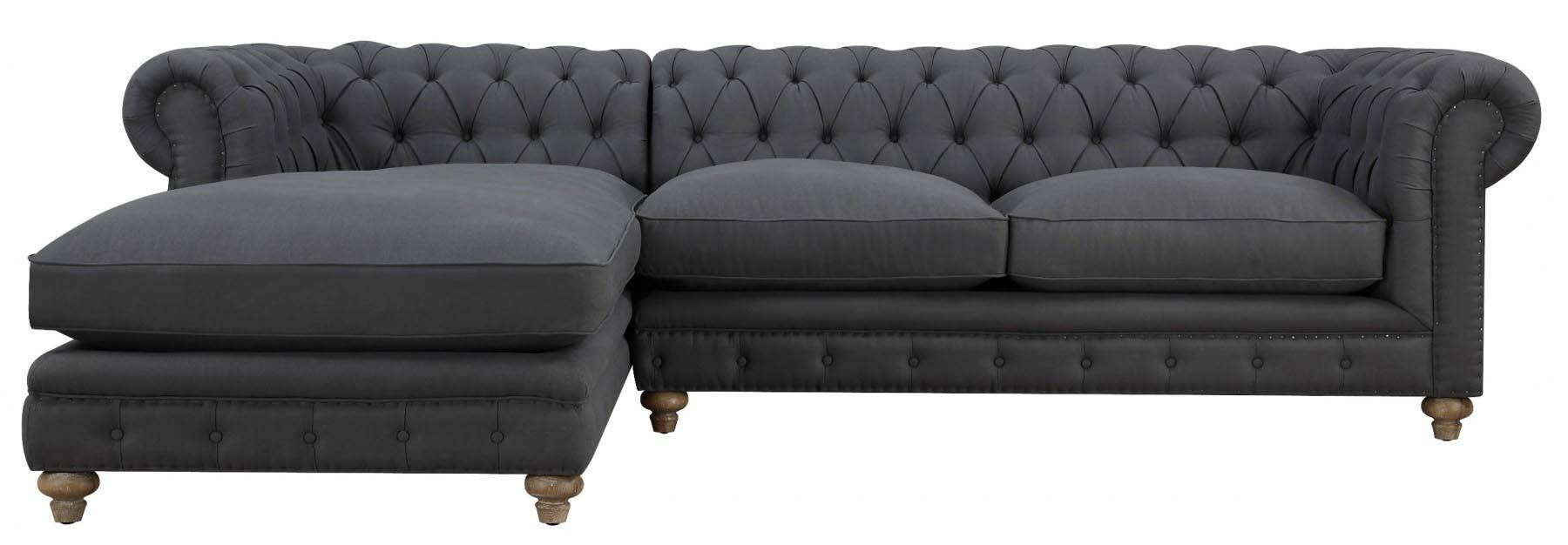 Oxford Grey Linen Sectional Sofa, Tov Furniture - Modern Manhattan with Oxford Sofas (Image 19 of 30)