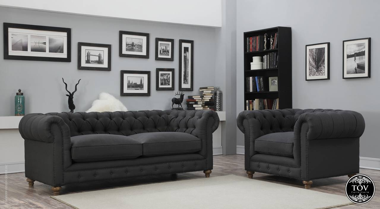 Oxford Grey Linen Sofa | Tov Furniture | Metropolitandecor within Oxford Sofas (Image 21 of 30)