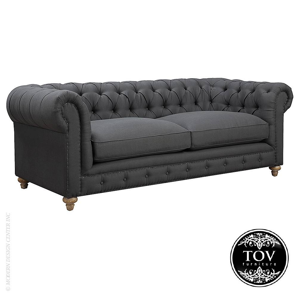 Oxford Grey Linen Sofa | Tov Furniture | Metropolitandecor within Oxford Sofas (Image 20 of 30)