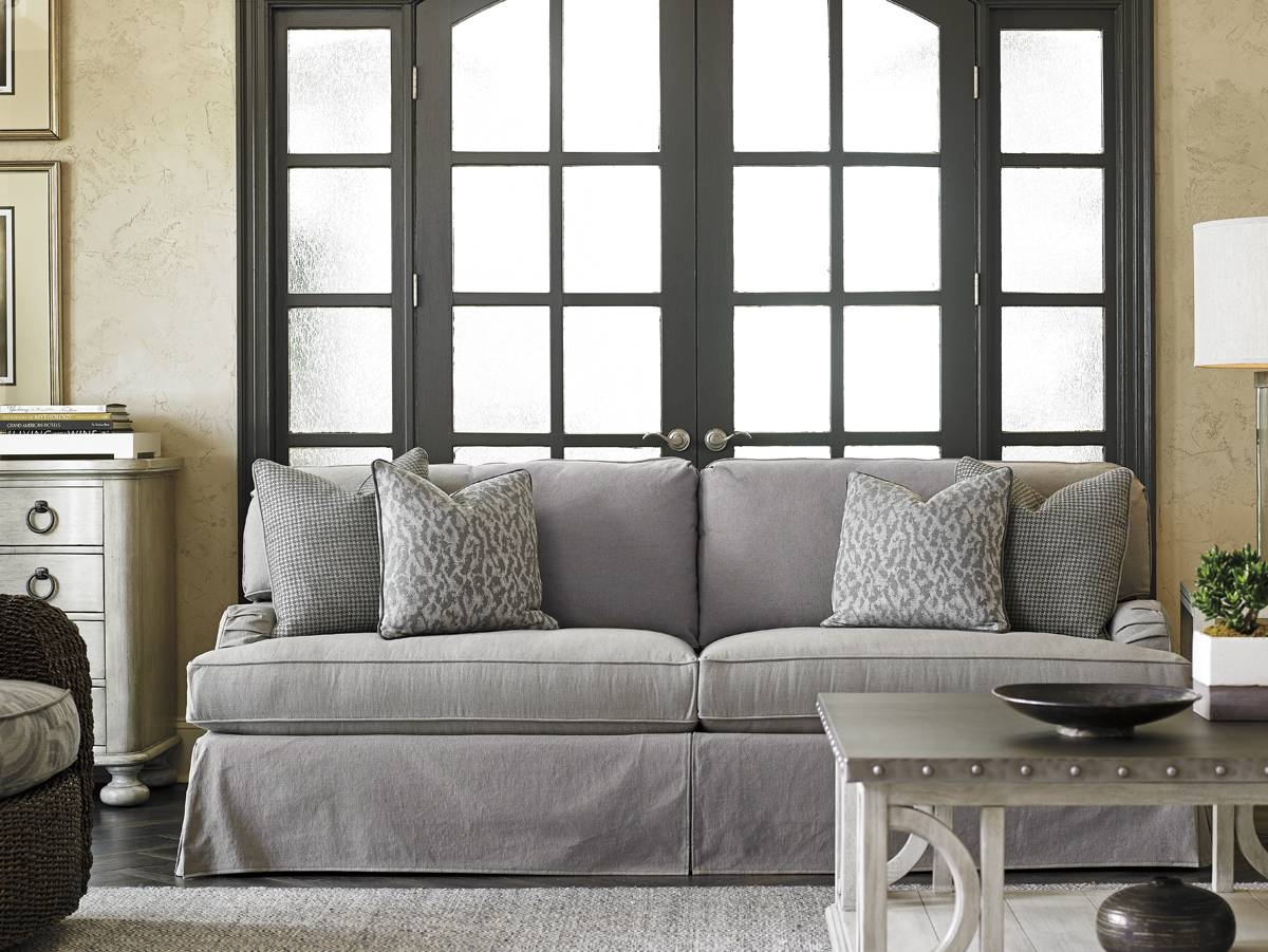 Oyster Bay Stowe Slipcover Sofa - Gray | Lexington Home Brands throughout Slipcovers Sofas (Image 23 of 30)